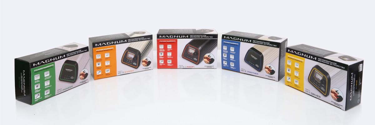 серия зарядных устройств Магнум упаковка